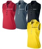 Nike Golf   Ladies Golf Shirts   Dot Collar Sleeveless