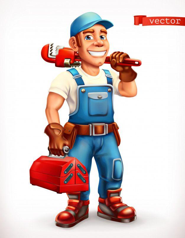 Worker Repairman Cheerful Character 3d Icon Em 2020 Marido De Aluguel Montador De Moveis Desenhos