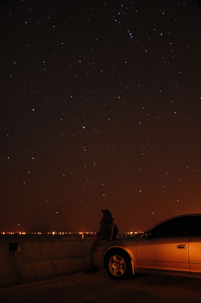 i'm under that night. i'm under those same stars.