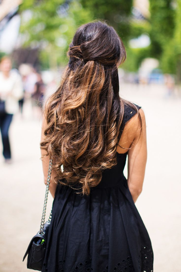 Elegant, Easy, Voluminous French Twist Half Updo Created With Ombre  Chestnut Luxy Hair Extensions