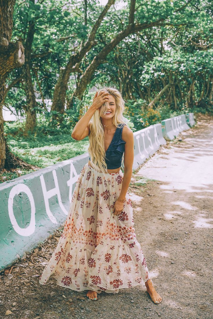 Barefoot Blonde Amber Fillerup wearing Free People and Marissa Webb