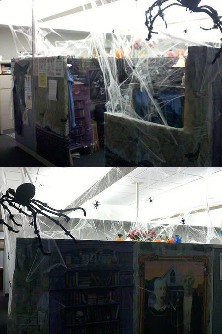 Pimped out cubicles - Dulcia MacPherson's Zombie cubicle.
