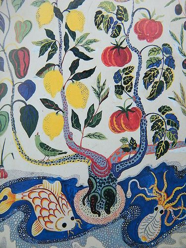 Josef frank fabric. Not necessarily this but something lively and bright and bold and memorable. D's blind.