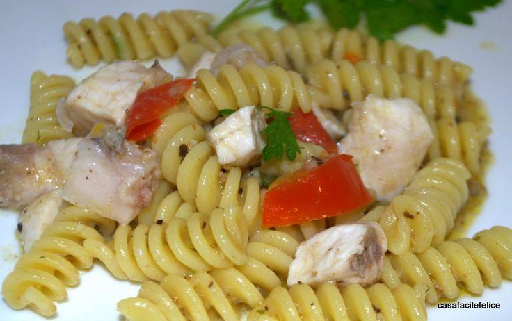 Fusilli con bocconcini di pesce Spada. on http://casafacilefelice.org
