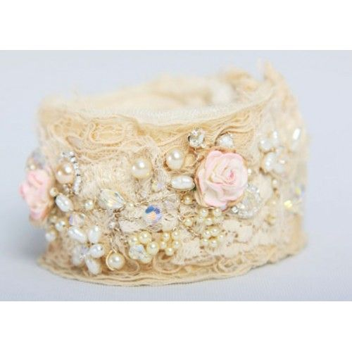 Old Rose and Vintage Lace Cuff