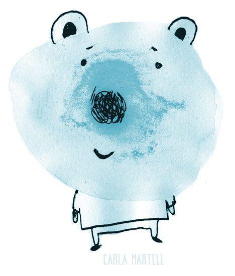 A watery blue bear |  Carla Martell