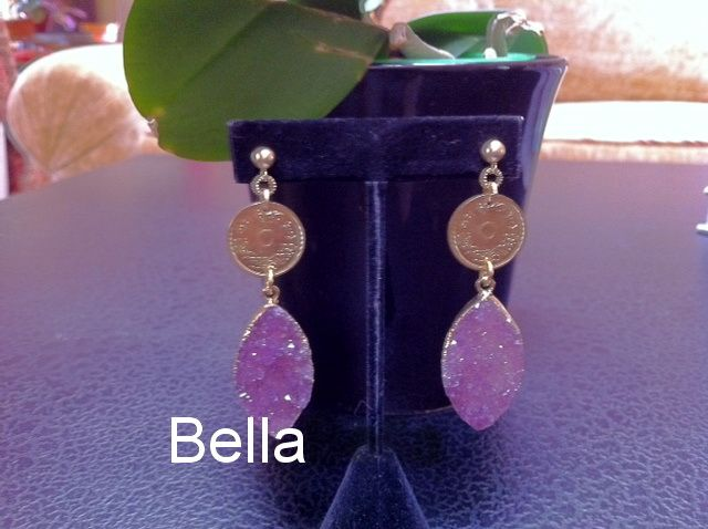 BELLA; Simply Yummy earrings with vintage French/Morocco coins