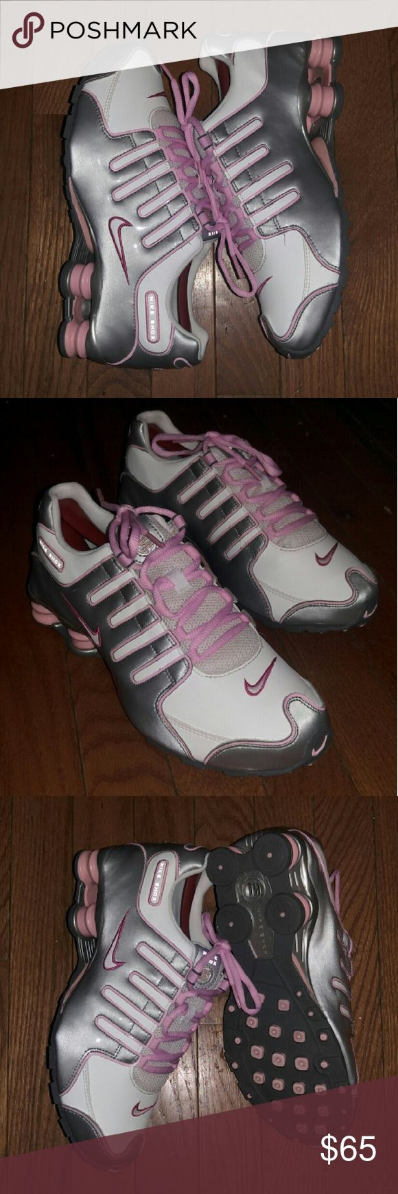 Women's Nike Shox NZ Women's Nike Shox NZ size 7y equivalent to a woman's 8.5 great condition no rips stains or tears check out my other listings for 25% off bundles Nike Shoes Athletic Shoes