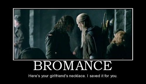 Bromance: Here's your girlfriend's necklace. I saved it for you.
