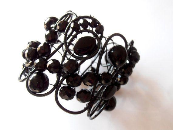 Decorative black Bohemian crystals curtain tiebacks drapery