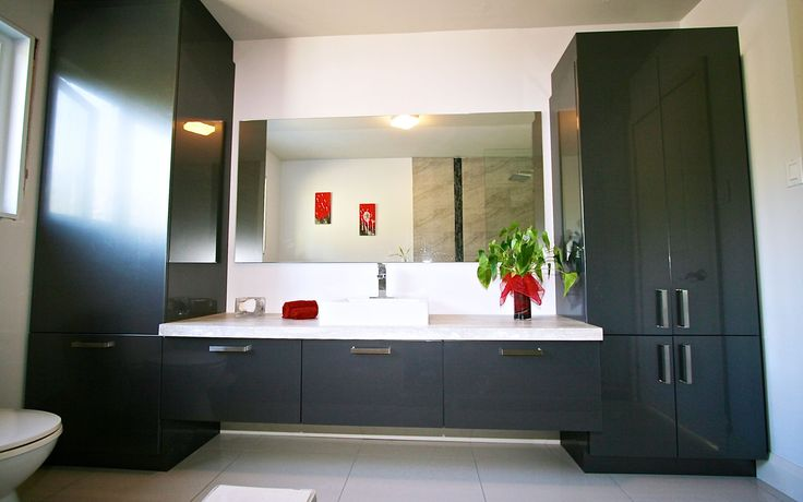Les 25 meilleures id es concernant vanit gris sur for Dessus de comptoir salle de bain
