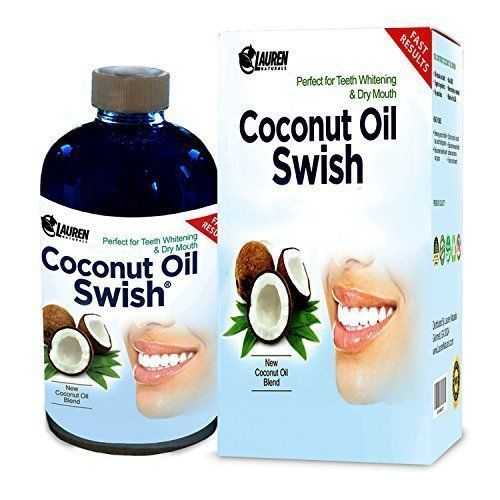 Coconut Oil Pulling and Mouthwash -8 oz Excellent for Teeth Whitening, Dry Mouth