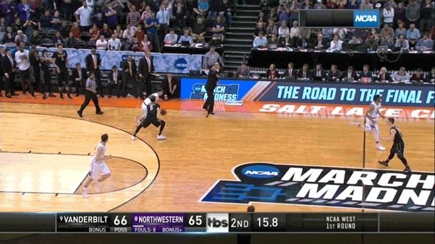 """SALT LAKE CITY — At first, Bryant McIntosh thought he was the one who messed up. The Northwestern guardwas so surprisedVanderbilt's Matthew Fisher-David fouled him intentionally that he initially assumed he had the score wrong. """"I was kind of shocked,"""" McIntosh said. """"I thought maybe I had #Costly, #First, #Gaffe, #Gives, #Its, #NCAA, #Northwestern, #Tournament, #Vanderbilt'S, #Win"""