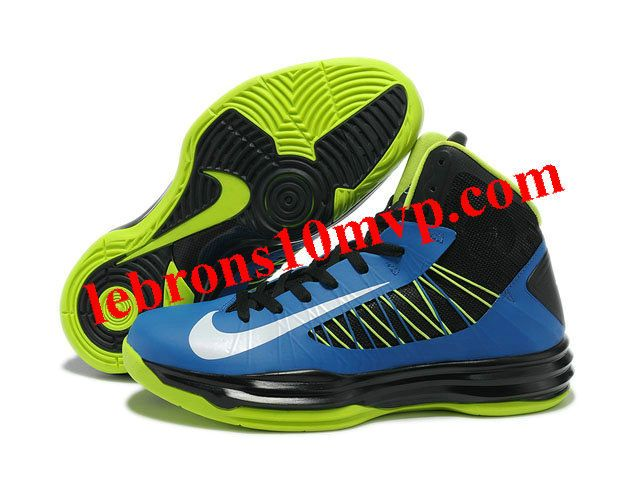 Nike Lunar Hyperdunk X 2012 James Shoes Black/Blue/Green