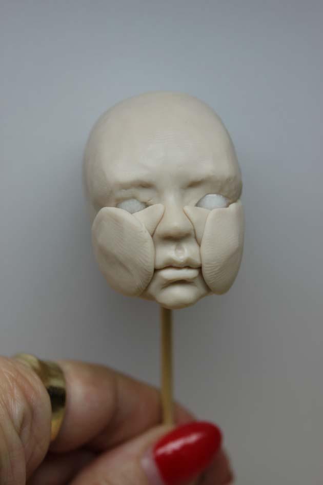 . ........Art dolls by Claudine Roelens........: Deel 1 Tutorial buste draaibaar hoofd / part 1 Tutorial bust moveable head