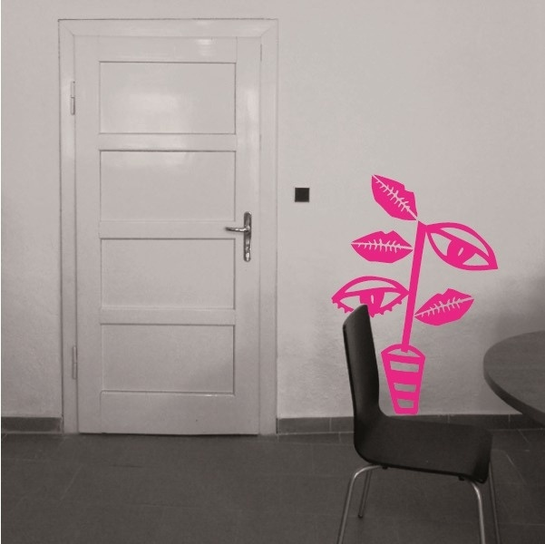 wallsticker - Winking flower, samolepka na zeď