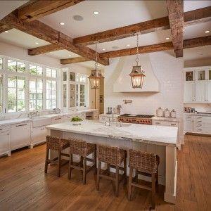 "White Kitchen Cabinet Paint Color: ""Benjamin Moore OC-17 White Dove"". #WhiteKitchen #Cabinet #PaintColor #BenjaminMoore #WhiteDove #OC17"