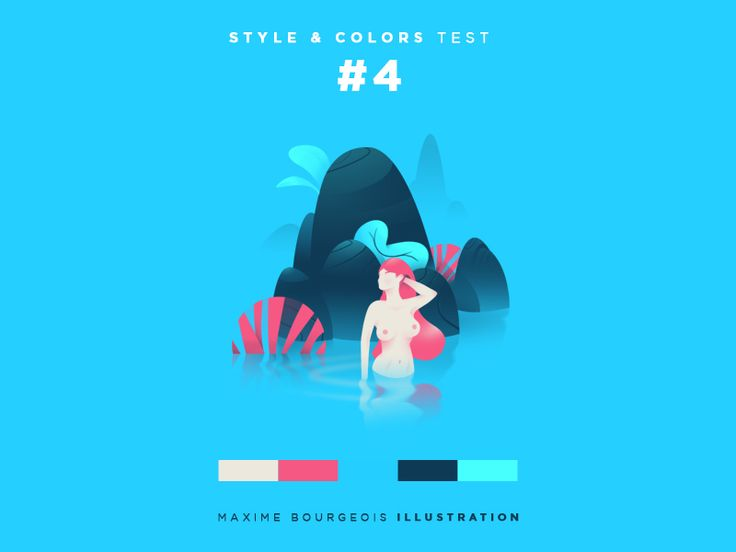 Style & Colors: Mermaid by Maxime Bourgeois