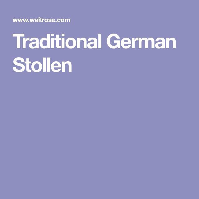 Traditional German Stollen