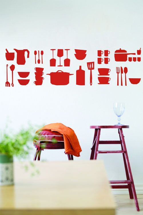 Kitchen Wall Sticker: These Will Make Our New Kitchen Happier :)