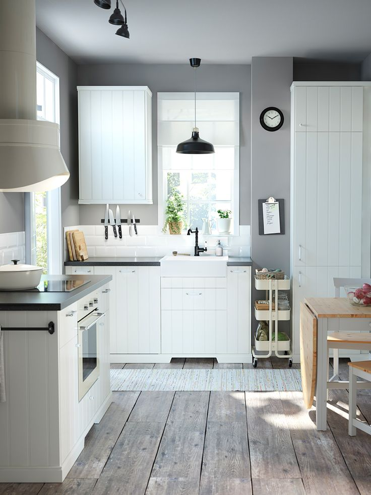 Kitchen clean asthetic white cabinets and
