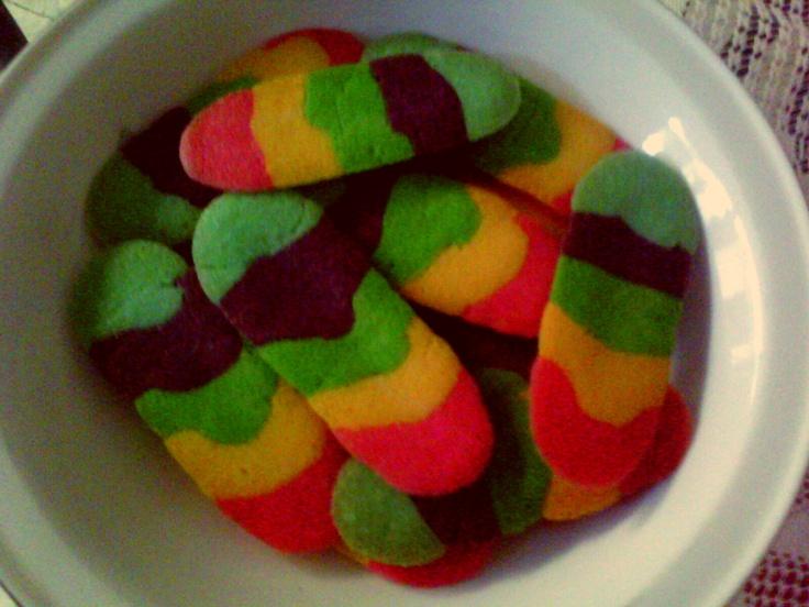 dough result 'rainbow cookies'