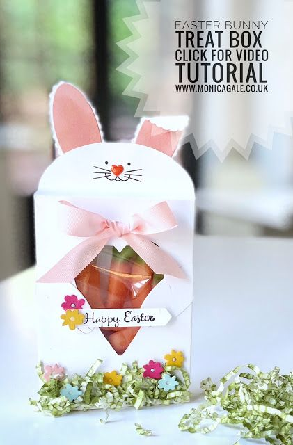 Easter Treat Bag made with Lots of Love dies from Stampin Up #monicagale, #stampinup, #easterdiy
