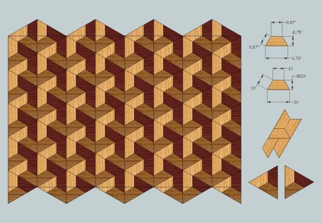 3d wood pattern marchetaria pinterest quilt designs for Puzzle cutting board plans