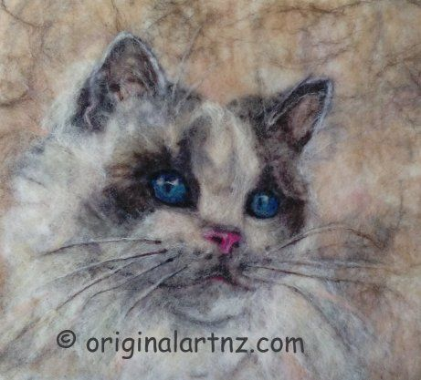 hand made wool pictures  #feltedwallhanging #woolpicture #Petportraits