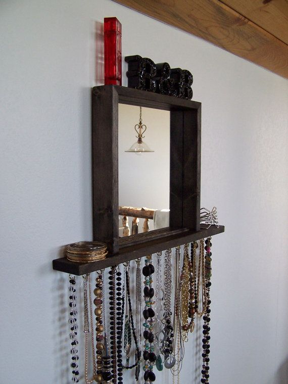 Decorative Wall Mirror Jewelry Organizer : Best images about jewelry organizers on