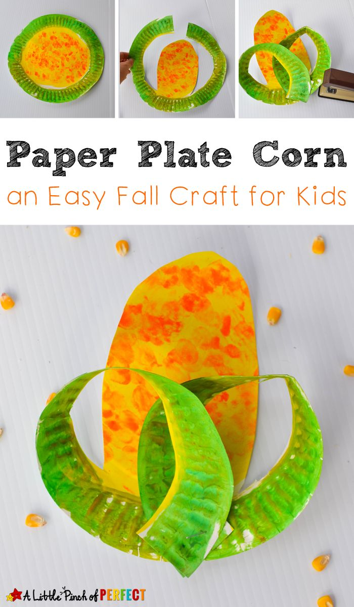 Paper Plate Corn Easy Harvest Craft For Kids To Make A Little