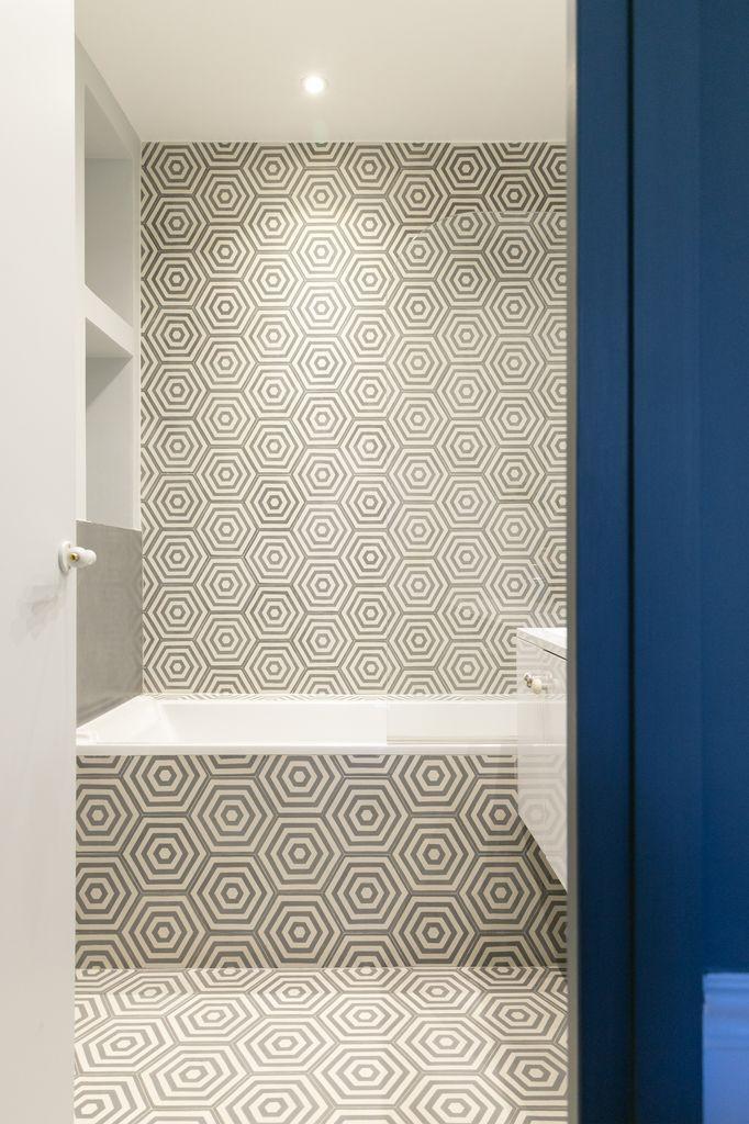 Carreaux de ciment Popham Design  pour  salle de bain des enfants ou le sol de la nôtre
