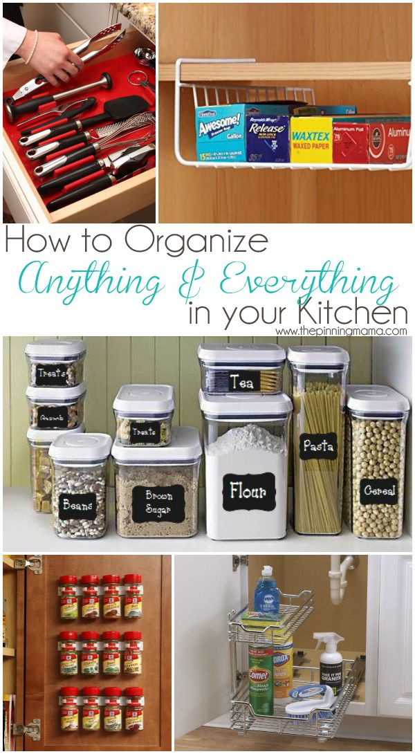 How to organize ANYTHING & EVERYTHING in your kitchen. I didn't even know some of these products existed!