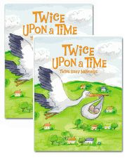 Baby books for twins, each will have his and her own book of memories. I love this idea.