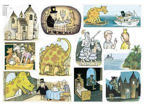 Födelsedagspresenten är en härlig saga om drakar, slott och riddare med fantastiska bilder av Jan Lööf. Unik och lättberättad flanosaga!