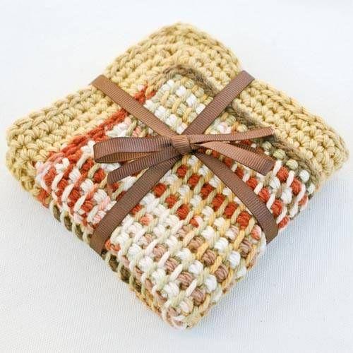 Free crochet dishcloth patterns ༺✿ƬⱤღ  https://www.pinterest.com/teretegui/✿༻