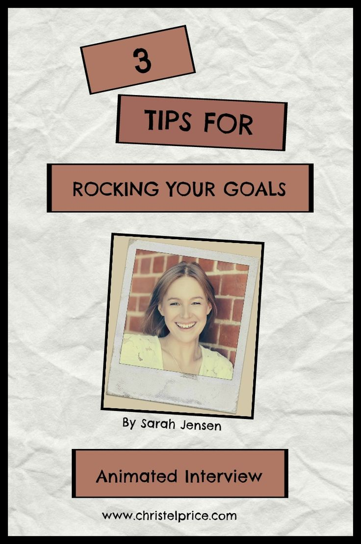 A life coach, internationally published writer and creator of the popular Rock Your Goals workshops and online course, Sarah shares her three tips for rocking your goals in this animated video.