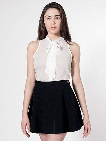 American Apparel - Corduroy Circle Skirt in Jet Black -- I want you too.