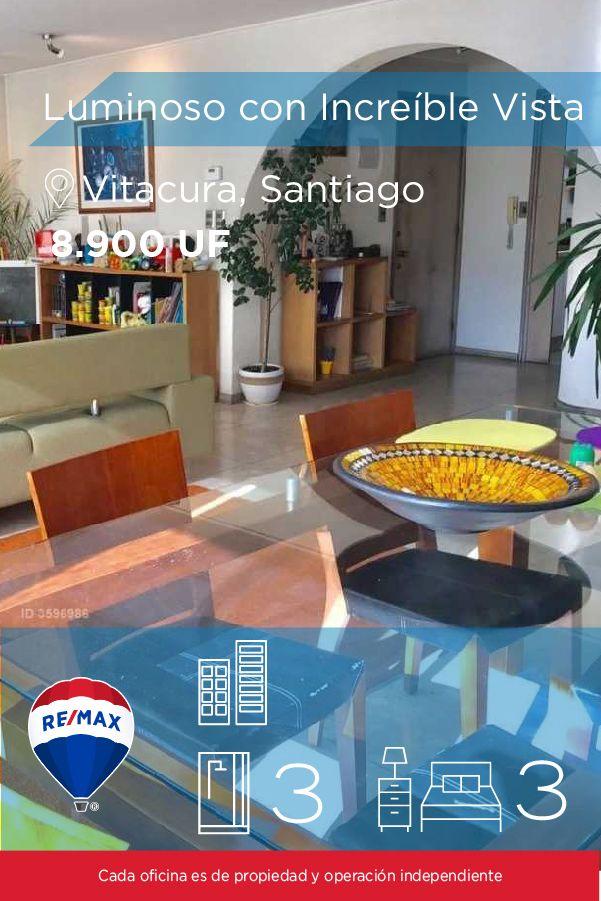 [#Departamento en #Venta] - Luminoso e Increíble Dpto con Vista despejada hacia el NorOriente 🛏: 3 🚿: 3  👉🏼 http://www.remax.cl/1028054002-7 #propiedades #inmuebles #bienesraices #inmobiliaria #agenteinmobiliario #exclusividad #asesores #construcción #vivienda #realestate #invertir #REMAX #Broker #inversionistas #arquitectos #venta #arriendo #casa #departamento #oficina #chile