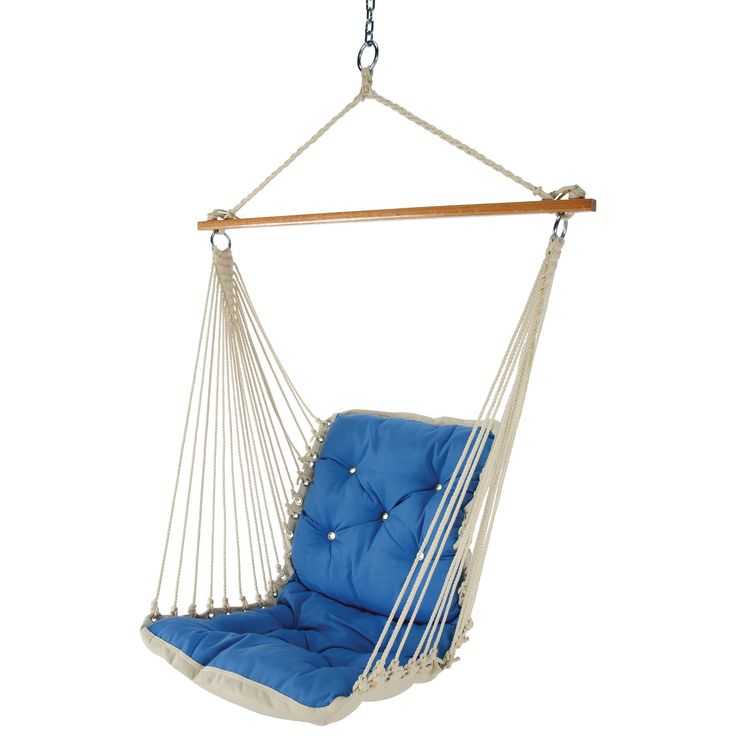 kids hanging chair for bedroom%0A Tufted SinglePerson Swinging Hammock Chair at Brookstone u    Buy Now