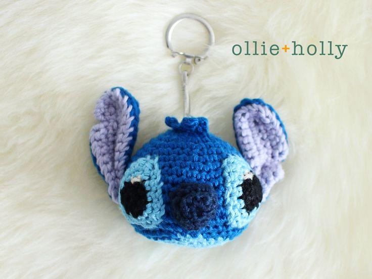 Patrón de llavero de ganchillo Amigurumi de Lilo y Stitch gratis terminado