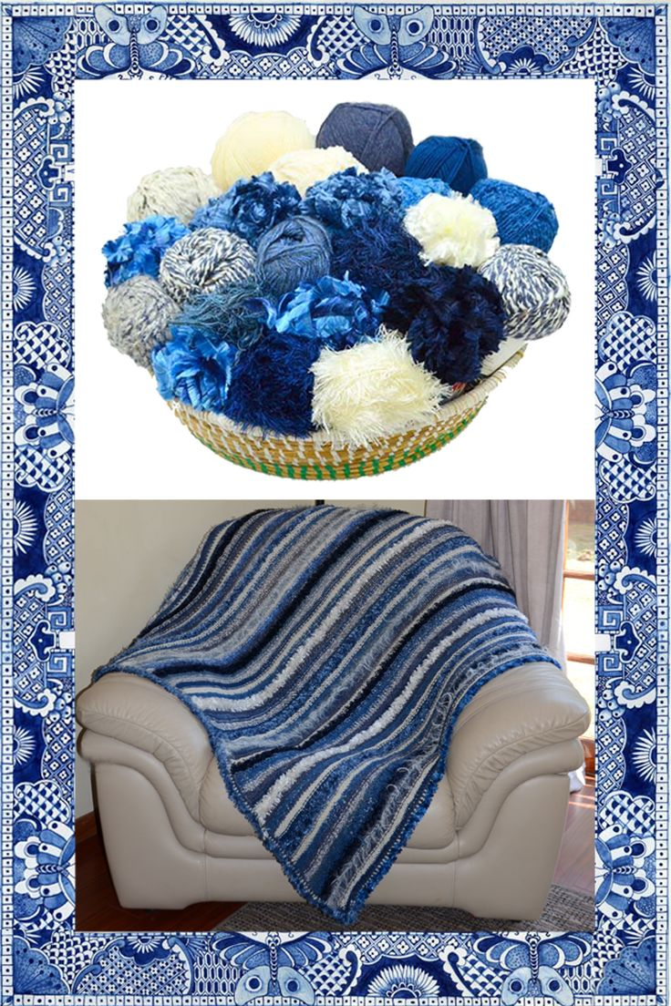 Willow Pattern blanket kit available from www.wooljunction.co.za