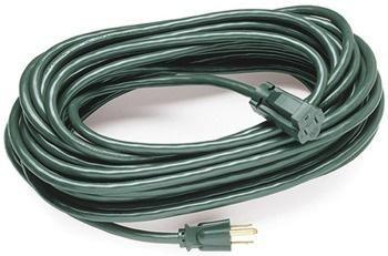 80 Ft. Green Extension Cord, 13 Amp with Male Plug, Indoor / Outdoor Use