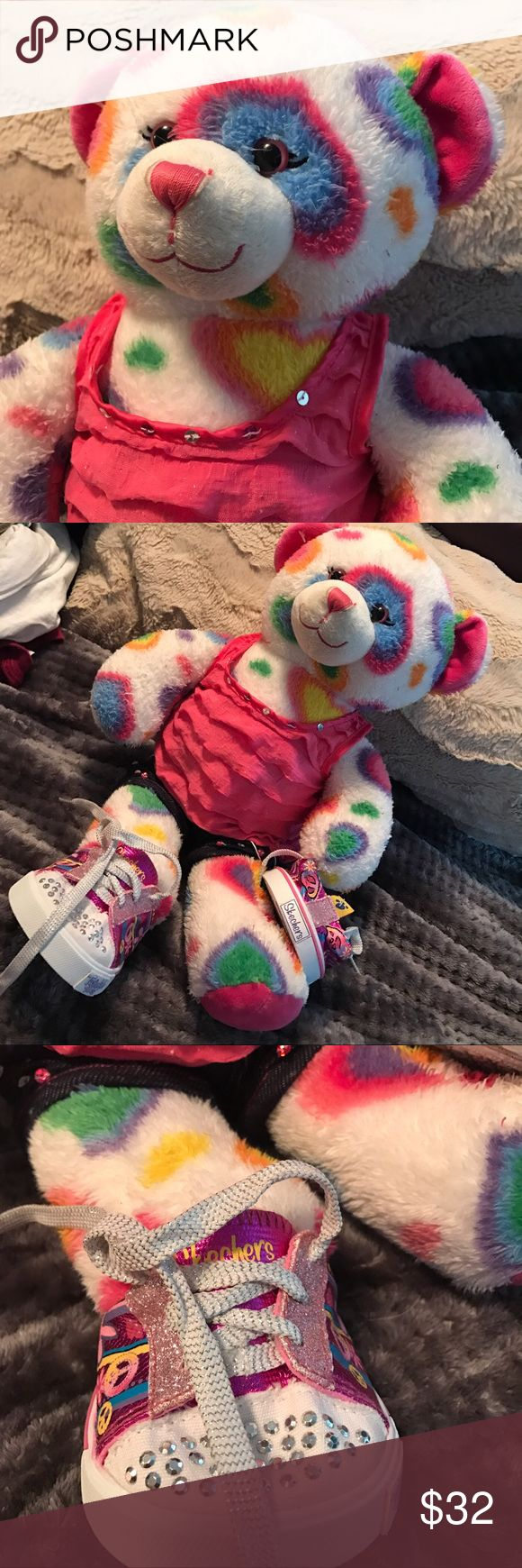 Sweet build a bear 🐻 Medium sized with clothing including sketchers tennis shoes build a bear Other