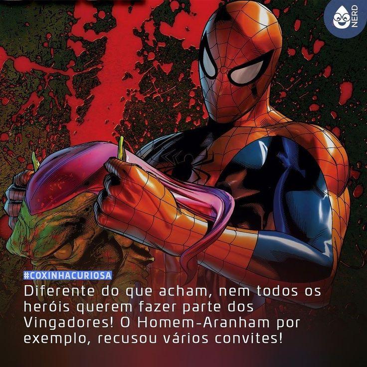 #CoxinhaCuriosa Além do teioso também temos o Demolidor o Hulk e o Magnum que recusaram fazer parte da equipe!  #TimelineAcessivel #PraCegoVer  Ilustração do Homem-Aranha com a curiosidade: Diferente do que acham nem todos os heróis querem fazer parte dos Vingadores! O Homem-Aranham por exemplo recusou vários convites!  TAGS: #coxinhanerd #nerd #geek #geekstuff #geekart #nerd #nerdquote #geekquote #curiosidadesnerds #curiosidadesgeeks #coxinhanerd #coxinhafilmes #filmes #movies #cinema…