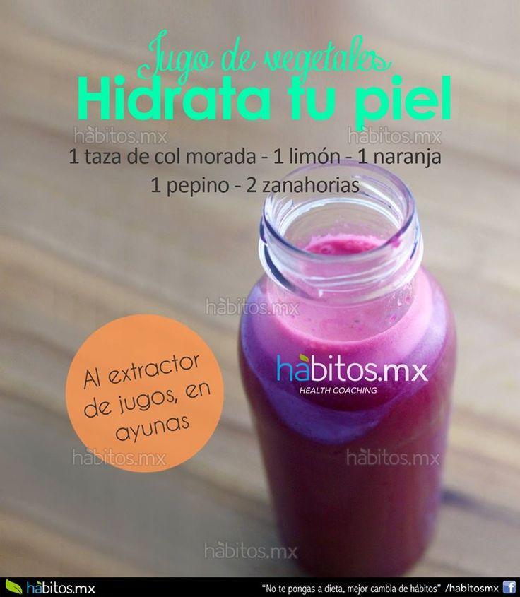 Hábitos Health Coaching | JUGO DE VEGETALES HIDRATA TU PIEL