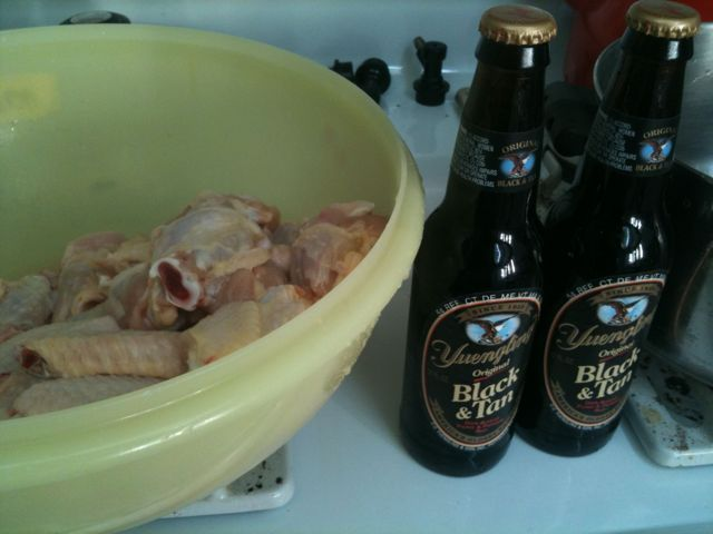 Yuengling Black and Tan Buffalo Chicken WingRecipe~had this recipe on whole chickens over the BBQ and it was awesome!!
