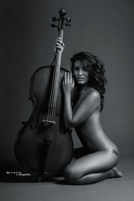 hot nude girl and instrument