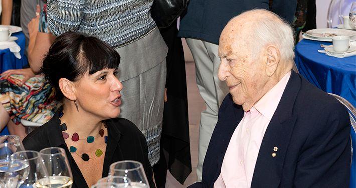 Nathalie Blondil et le mécène Michal Hornstein, décédé le 24 avril 2016- Musée des beaux-arts de Montréal