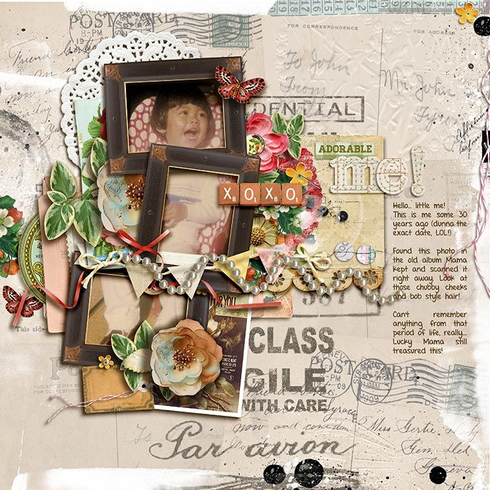 "Old Sweet Times by Juliana Kneipp. The Letter by Juliana Kneipp. Ephemera Cluster by Juliana Kneipp.   ""Layout completed for the Sweet Shoppe Summer Shadowbox contest - August 22th. Come join the digital scrapbooking fun at SweetShoppeDesigns.com!"""